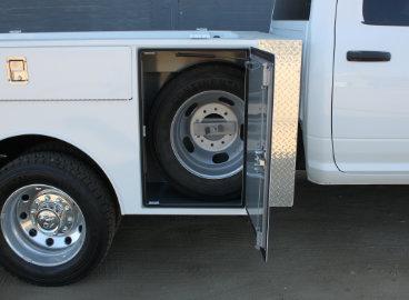 Douglass Truck Bodies Spare Tire Holder